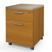 Latitude Run Ralph 2 Drawer Mobile Pedestal; Cappuccino Cherry
