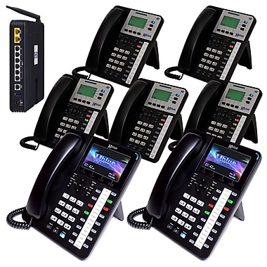 X504235 XBLUE X50 VoIP System Bundle with (2) X4040 & (5) X3030 IP Phones