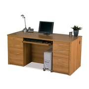 Latitude Run Witchel Executive Desk; Cappuccino Cherry