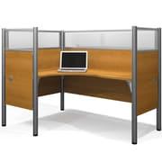 Ralph Single Left Executive Desk w/ 4 Melamine Privacy Panels & 4 Acrylic Glass Privacy Panels