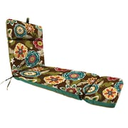 Latitude Run Reversible Polyester Outdoor Chaise Lounge Cushion