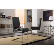 Latitude Run Alas Parsons Chair (Set of 2); Black
