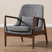 Latitude Run Ellen Mid-Century Modern Upholstered Leisure Arm Chair; Grey