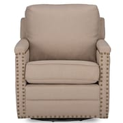 Latitude Run Alberto Classic Retro Upholstered Arm Chair; Beige
