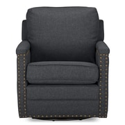 Latitude Run Alberto Classic Retro Upholstered Arm Chair; Gray
