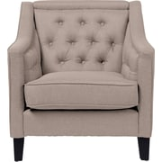 Latitude Run Alberty Classic Retro Upholstered Arm Chair; Beige