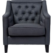 Latitude Run Alberty Classic Retro Upholstered Arm Chair; Gray
