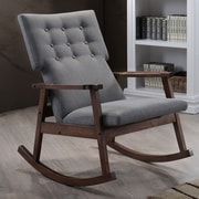 Latitude Run Nikanor Rocking Chair; Gray