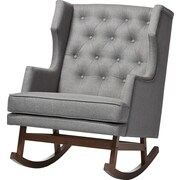 Latitude Run Whitworth Rocking Chair; Gray