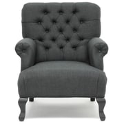 Latitude Run Lockport Armchair (Set of 2); Dark Charcoal Gray