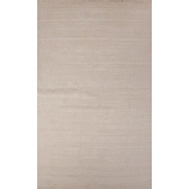 Latitude Run Nico Wool and Art Silk Solids/Handloom Gray Area Rug; 2' x 3'