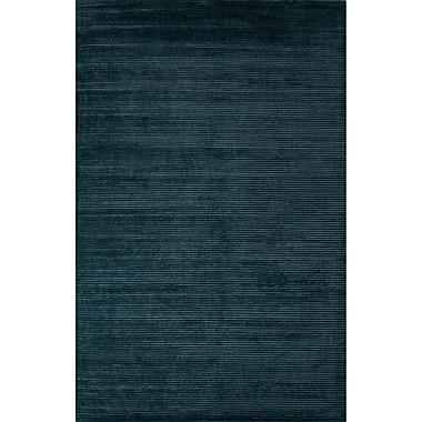 Latitude Run Nico Wool and Art Silk Solids/Handloom Blue Area Rug; 8' x 10'