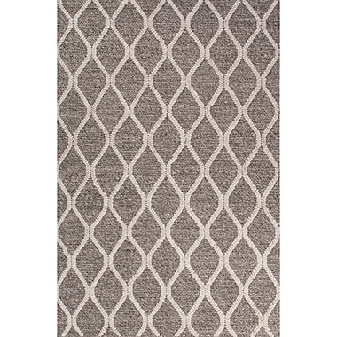 Latitude Run Moquin Dark Gray/Ivory Area Rug; 8' x 11'