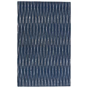 Latitude Run Josephine Hand-Tufted Insignia Blue/White Asparagus Area Rug; 5' x 8'
