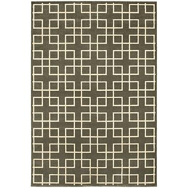 Latitude Run Albrecht Grey/Ivory Area Rug; 6'7'' x 9'6''