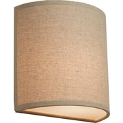 Latitude Run Terra 1-Light Wall Sconce; Oatmeal