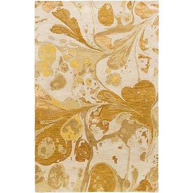 Latitude Run Asheville Beige/Gold Area Rug; 3'3'' x 5'3''
