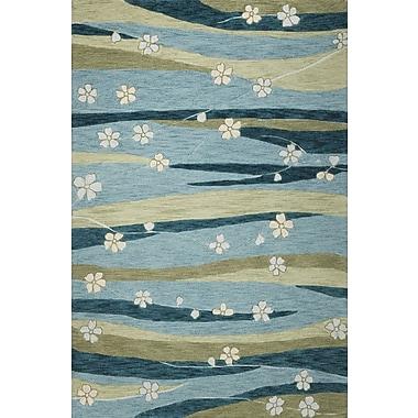 Latitude Run Pangkal Pinang Blue Springtime Rug; 3'3'' x 5'3''