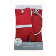 Linen Depot Direct 3-Piece Pot Holder Set; Red