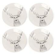 Loon Peak Snow Creek Deer Platter (Set of 4)