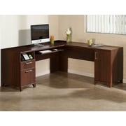 Latitude Run Achieve L-Shaped Computer Desk; Sweet Cherry