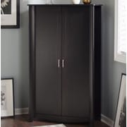 Latitude Run Wentworth 2 Door Accent Cabinet; Classic Black