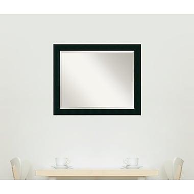 Latitude Run Jayden Rectangle Wood Mirror; 26.13'' H x 32.13'' W