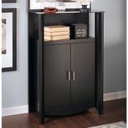 Latitude Run Wentworth Library Storage Cabinet w/ Doors; Classic Black