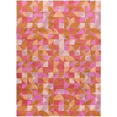 Latitude Run Chickamauga Hand-Tufted Pink/Orange Area Rug; 3'6'' x 5'6''