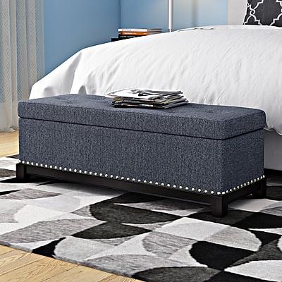 Latitude Run Warner Robins Upholstered Storage Bench;