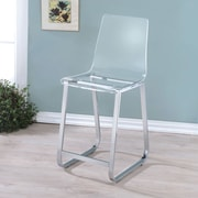 Latitude Run Alberta 23.75'' Bar Stool (Set of 2); Clear