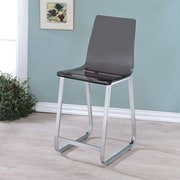 Latitude Run Alberta 23.75'' Bar Stool (Set of 2); Smoke