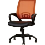 Latitude Run Brenna Desk Chair; Orange