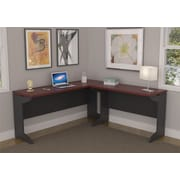Latitude Run Elizabeth L-Shape Desk Shell; Cherry / Gray