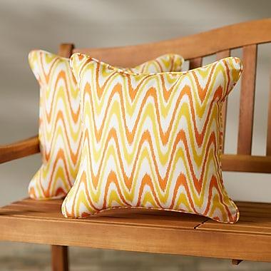 Latitude Run Augusta Indoor/Outdoor Throw Pillow (Set of 2); 22'' H x 22'' W