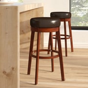 Latitude Run Henley 30'' Swivel Bar Stool; Brown