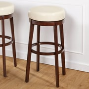Latitude Run Henley 30'' Swivel Bar Stool; Cream