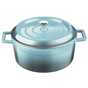 Lava Cookware Signature 10.5 Qt. Enameled Cast-Iron Round Dutch Oven