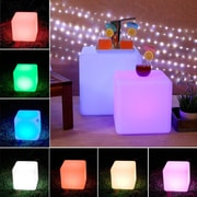 Major-Q Cube Cordless Decorative 4-Light LED Poolside and Floating Light