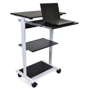 Offex Mobile 3 Shelf Adjustable Stand Up Workstation