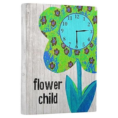 Artehouse LLC Flower Child Wall Clock