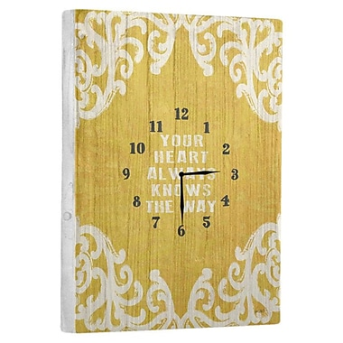 Artehouse LLC Your Heart Knows the Way Wall Clock