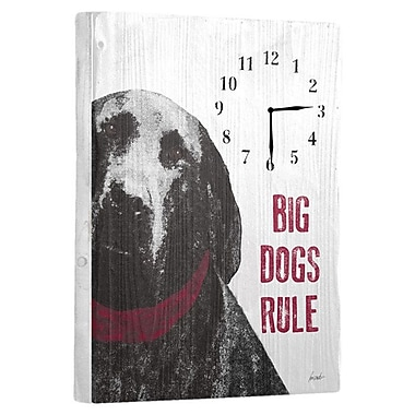 Artehouse LLC Dogs Rule Wall Clock
