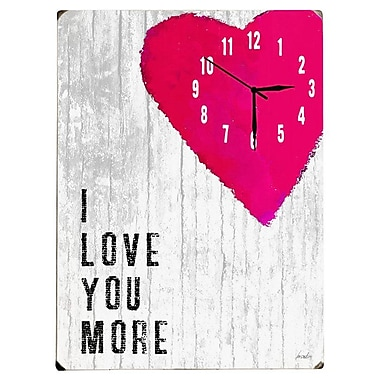 Artehouse LLC Love You Wall Clock