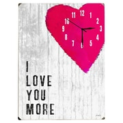 Artehouse LLC Love You Wall Clock