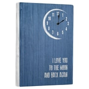 Artehouse LLC Moon & Back Wall Clock