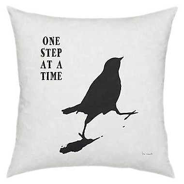 Artehouse LLC One Step At A Time Throw Pillow
