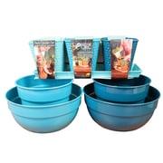 Robert Allen Home and Garden Bella Spring Garden 8-Piece Metal Pot Planter Set; Blue