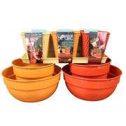 Robert Allen Home and Garden Bella Spring Garden 8-Piece Metal Pot Planter Set; Yellow