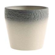 SKUSA Mestre Stone Clay Pot Planter; Gray/Cream